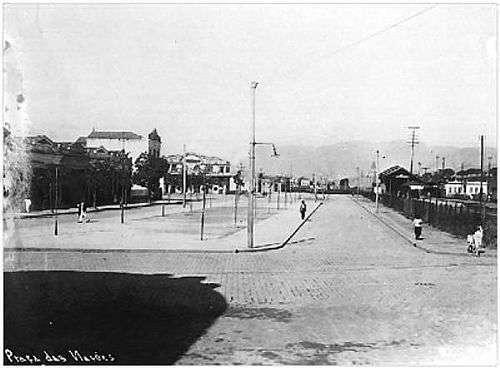 antiga foto da Praça das Nações